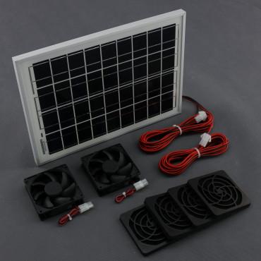 S012, 130m3/ h, 10W solární větrací systém STANDARD