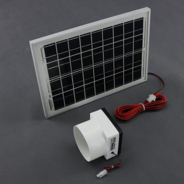 SO190, 55m3/ h, 10W solární větrací systém kulatý STANDARD