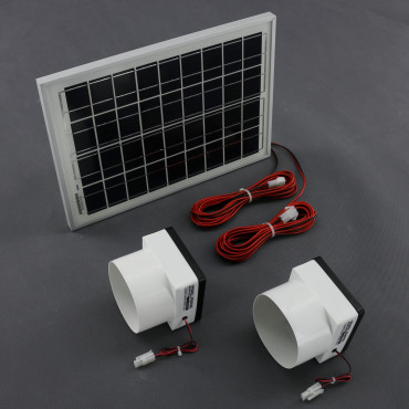 SO191, 130m3/ h, 10W solární větrací systém kulatý STANDARD