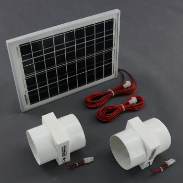 SO193, 130m3/ h, 10W solární větrací systém vestavný STANDARD