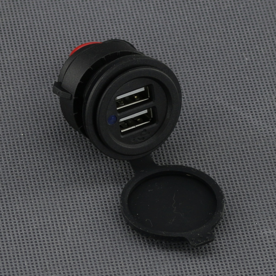 SI125, 2x USB nabíječka (zásuvka) max 4,8A voděodolná panelová