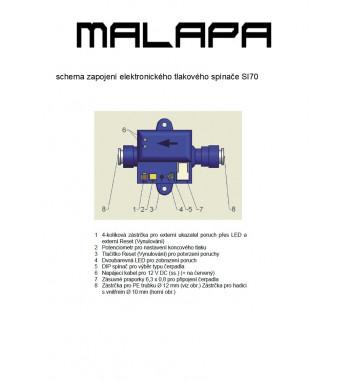 SI70, 12V tlakový spínač elektronický