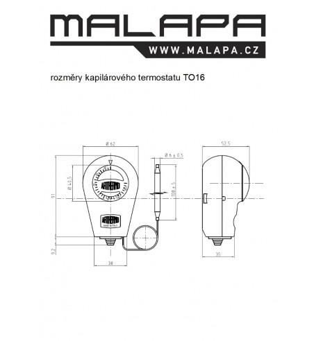 TO16, termostat kapilárový  -35 do +35°C (topení a chlazení)
