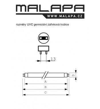 GL05, KOMPLET UV-C germicidní svítidlo 75W (G13)