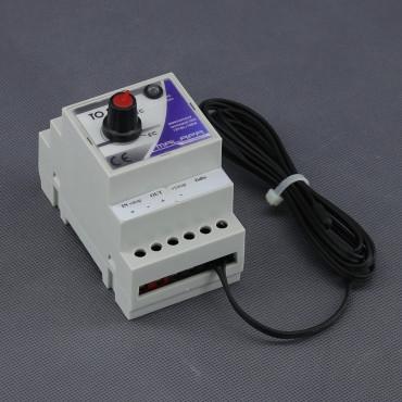 TO20, 12V elektronický termostat na DIN lištu (topení)