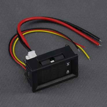 SI127, 0V - 100V voltmetr + 0A - 10A ampérmetr digitální panelový