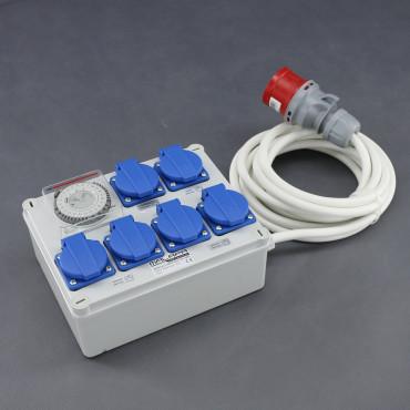 KL02, rozvaděč 4x 1200W (4+1+1), 400V 16A
