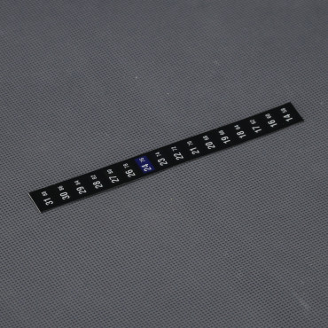 VT40, analogový ohebný samolepící teploměr 14° až 31°C