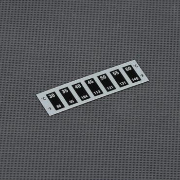 VT45, analogový ohebný samolepící teploměr 30° až 60°C
