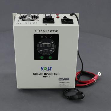 ZZ55, 700W/ 230V záložní zdroj sinusový + SOLAR, pro aku 12V, (na plochu/ na zeď)