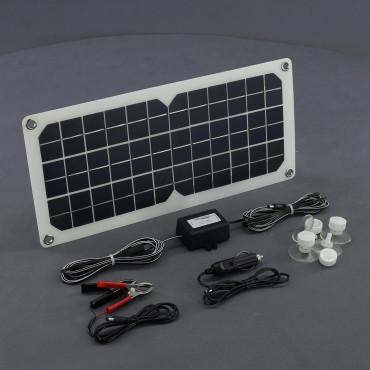 SO127, 20W/ 12V ohebná solární nabíječka autobaterií + USB