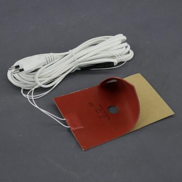 TF09, 230V/ 50W topná folie ohebná, samolepící, silikonová (150x 100mm)