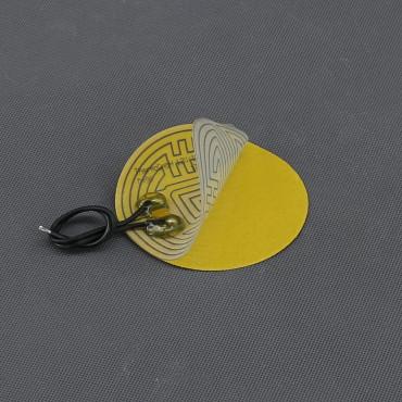 TF04, 12V/ 15W topná folie ohebná kulatá, samolepící (průměr 90mm)